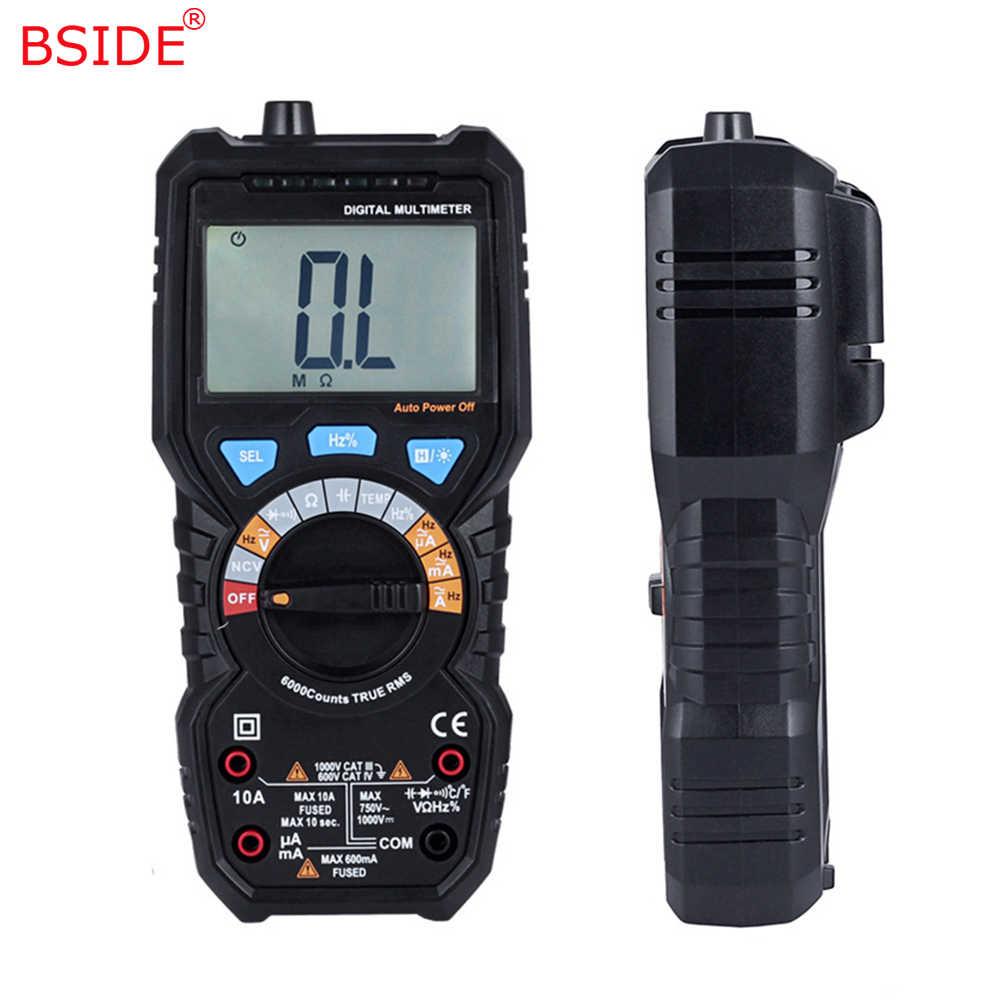 BSIDE true RMS wartość cyfrowy multimetr ADM08A AC/DC napięcie prądu temperatury częstotliwości odporność pojemności NCV Tester