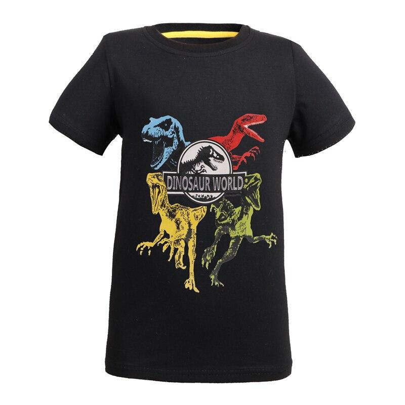 3-10 Years Old Jurassic World 2 dinosaur Children Kids Shorts Tops elasticity T Shirt Summer Teenager Boys Girls T-Shirt For boy casual cactus pattern t shirt shorts twinset for women