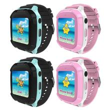 VODOOL New Children Smart Watch Phone DS58 Touch Screen Waterproof GPS Tracker Anti-lost SOS Wristband Support SIM Card for Kids аксессуар защитное стекло для huawei honor view 10 df full screen 3d blue hwcolor 45