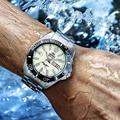 Мужские автоматические спортивные часы  100% Ориент  часы с отображением времени на неделю  водонепроницаемые  200 м  светящиеся  гарантия на ру...