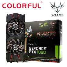 HIPERDEAL Colorful iGame GTX1060 U-3G Gaming Video Graphics Card 1556-1771MHz/8008MHz I2M5