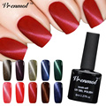 Vrenmol 1pcs UV LED Gel Lacquer Varnish 3D Cat Eyes Gel Nail Polish 24 Colors Magnetic Cat Eye Gel Nail Lacquer