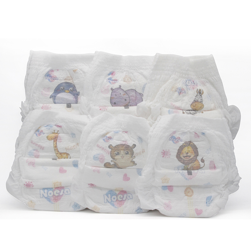 NOESA NPXXL 48 Disposable Baby Pull ups Diaper 48Count Training Diapers 4T 35 40lb Animal Prints Baby Weight gt 15kg in Baby Nappies from Mother amp Kids
