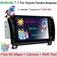 9 «au tableau de bord Autoradio Lecteur GPS Navigation Bluetooth HD Écran Tactile TV RDS Radio Pour TOYOTA Sequoia/TOYOTA Tundra + carte