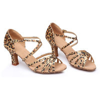 Women S Solid Color Straps Satin Soft Soled Leather Latin Tango Dance Shoes Sandal Summer 5