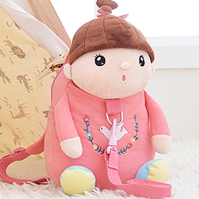 Bonito dos desenhos animados do bebê anti perdido bag crianças 1-3 anos de idade as crianças da escola sacos enviar a corda de tração mochila crianças