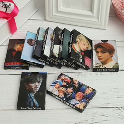 30Pcs/Set KPOP NCT U 127  BOSS Taeyong/MARK/WINWIN/JaeHyun/jungwoo Personal Lomo Paper Card Self Made Photocard Poster