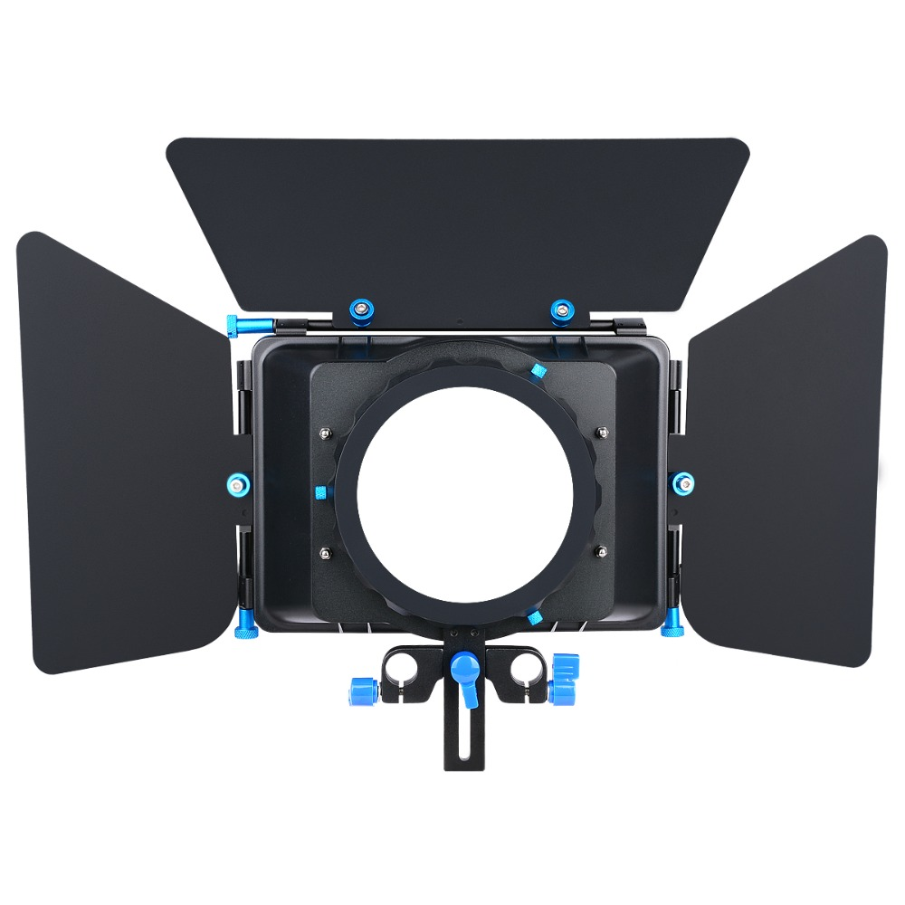 Professional Metal Black Adjustable French Flags DSLR Matte Box For All DSLR Cameras And Camcorders 5D2