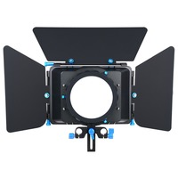 Professional Metal Black Adjustable French Flags DSLR Matte Box For All DSLR Cameras And Camcorders 5D2 5D3 50D
