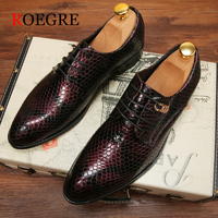 2018 New Mens Classic Dress Shoes Microfiber Leather Men Formal Shoes For Men Casual Business Wedding Shoes Men Crocodile