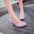 2017 women pumps thick high heels designer women shoes silver wedding heels glitter pumps women heels ladies medium heel shoes