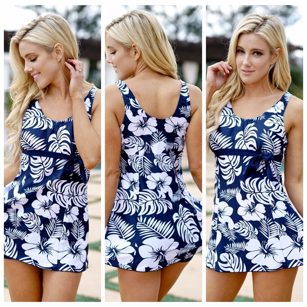 Sexy lady one-piece swimming suit Print underwaist swinsuit Women beachwear
