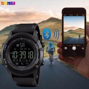 Image 3 - SKMEI Bluetooth גברים חכם ספורט שעון 5Bar עמיד למים גברים דיגיטלי שעוני יד מד צעדים קלוריות כושר reloj hombre 1321