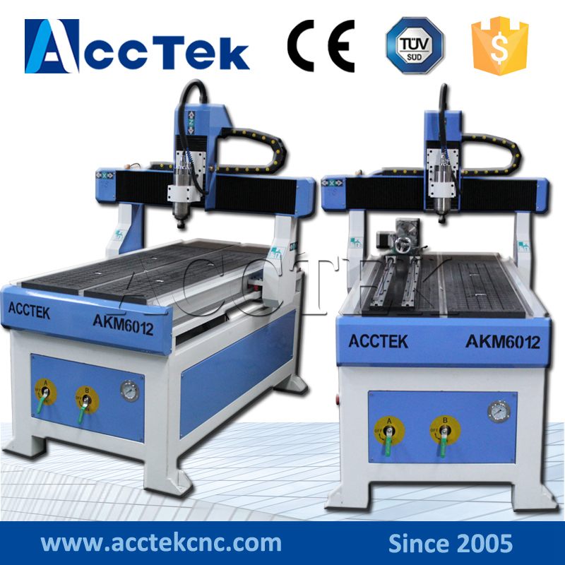 AKM6012 CNC Wood Working Milling Machine/ Small Cnc Marble Engraving Machine Price/ 3d Carving Cnc Router