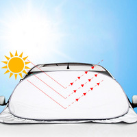 155cm Casual Foldable Universal Car Windshield Visor Cover Front Rear Block Window Sun Shade Auto Accessories Solar Protection