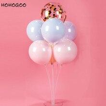 HOHOGOO 7 Tubes Balloons Stand Holder Column Baby Shower Birthday Party Desktop Decoration Supplies Ballons Accessories