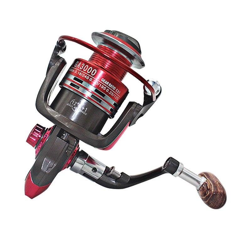 Spinning Fishing Reel GA1000-6000 Series Metal Fishing Reel 5.2:1 12+1BB Spinning Reel Carp Fishing Wheel