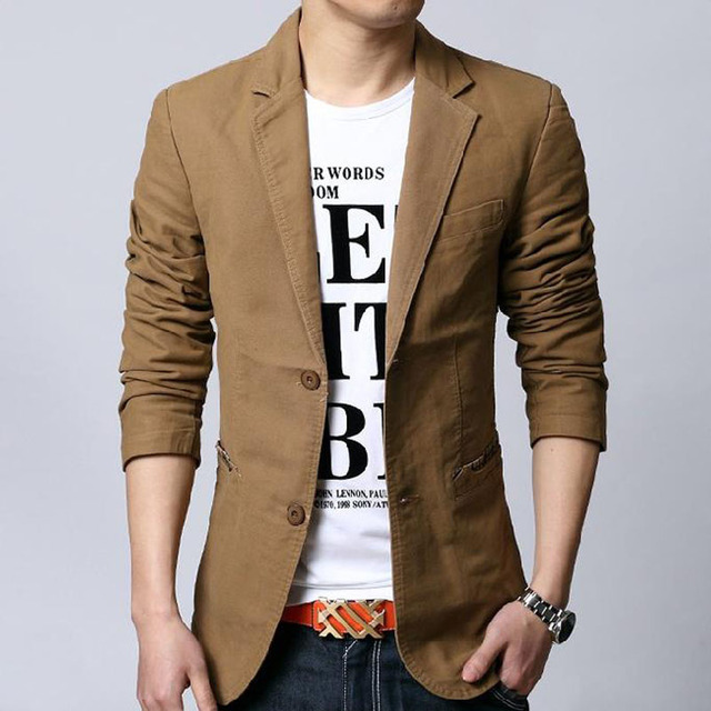 Homens blazer primavera 2019 nova outono masculino terno do lazer algodão fino plus size outerwear moda estilo Coreano preto cáqui 5XL 6XL