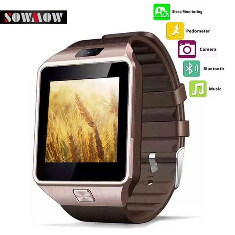 imágenes para Dispositivos Portátiles de SOWMOW DZ09 Reloj Inteligente cámara Electrónica Reloj de Pulsera Para teléfonos Android Smartwatch Salud PK U8 reloj GT08