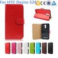 Bolsa de negocios para htc desire 526/526g + dual sim billetera caso del soporte de cuero para htc desire 526/526g + dual sim