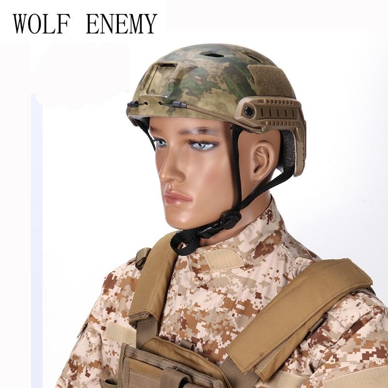 Тактический Шлем BJ Тип Airsoft Пейнтбол Шестерни спорта на открытом воздухе защитная с Ночное видение Спорт Камера крепление
