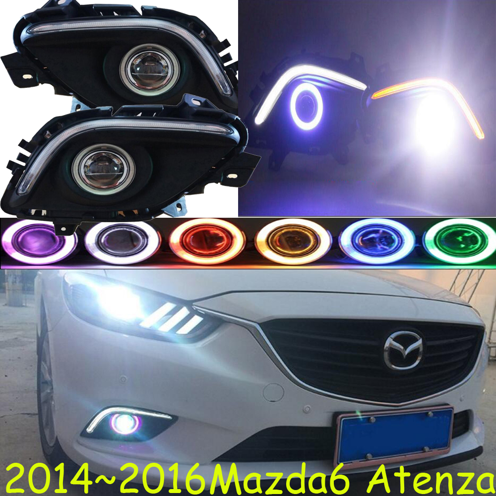 MAZD6 Atenza fog light LED 2014~2016 Free ship!Atenza MAZD 6 daytime light,2ps/set+wire ON/OFF:Halogen/HID XENON+Ballast,MAZD6 bqlzr dc12 24v black push button switch with connector wire s ot on off fog led light for toyota old style