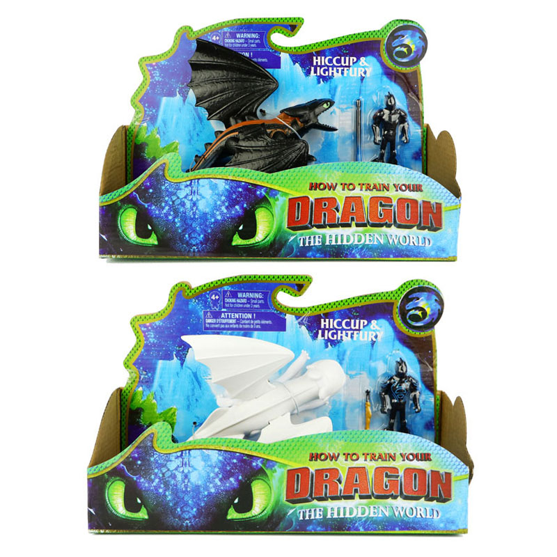 Collectible Toys Action-Figure-Toy Train Fury-Toothless Birthday-Gifts Anime Dragon-3-Light
