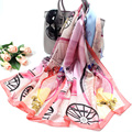 65*175CM Natural 100%Silk Designed Women's Scarf Carriage Horse Large Sizes Sarong Female Scarves Sunscreen Pashmina Cachecol S2