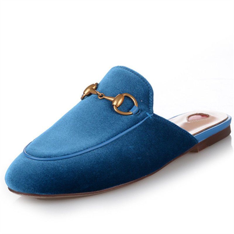2019 new arrival velvet summer Brand slipper shoes women high quality party wedding prom shoes fashion casual mules shoes woman