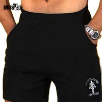 Men S Gym Shorts With Gold Powerhouse Fitness Bodybuilding Workout Shorts 100 Cotton High Quality S102