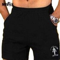 Gimnasios de los hombres Shorts Con Bolsillos Ropa Culturismo Hombres Oros Atleta Entrenamiento del Levantamiento de Pesas Gimnasio Bermudas de Algodón 5