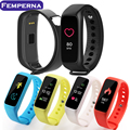 Femperna L30t Bluetooth Smart Band Heart Rate Monitor Pedometer Sleep Fitness Tracker for Andriod IOS Phone pk xiaomi mi band 2