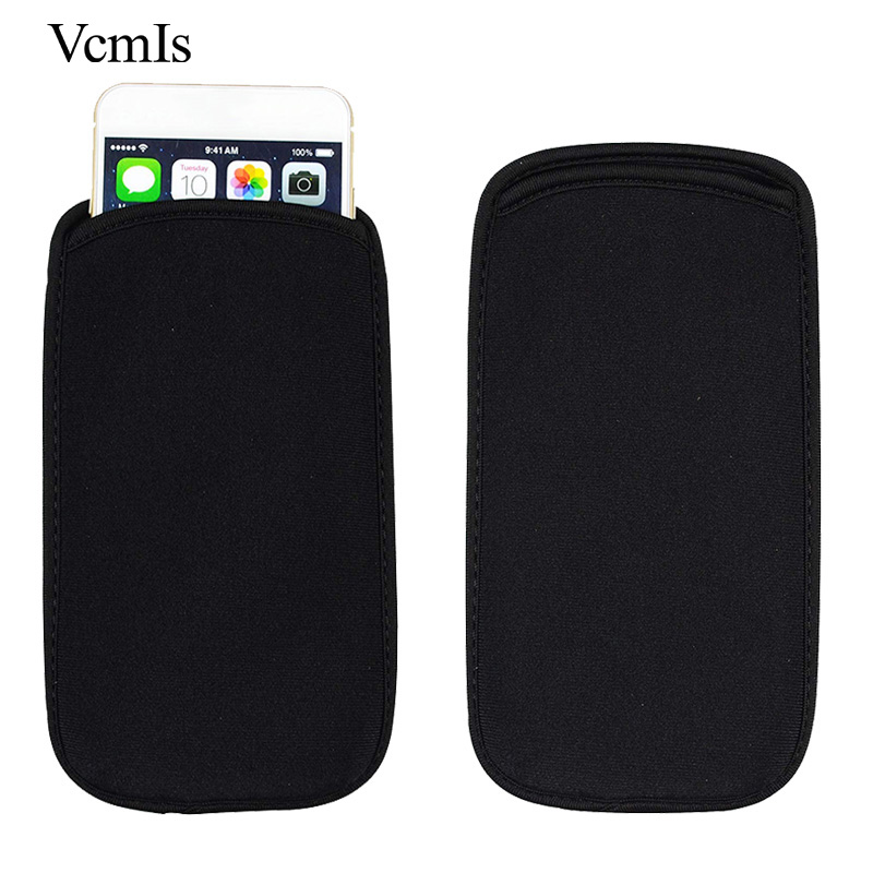 For General Mobile GM5 Plus Universal Elastic Black Sleeve Pouch For General Mobile GM8 Phone Case Neoprene waterproof Bag image