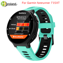 Outdoor Sport watch band For Garmin forerunner 735XT/220/230/235/620/630 Soft Silicone Strap for Garmin forerunner black band garmin forerunner 10 black red garmin