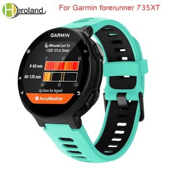 Outdoor Sport watch band For Garmin forerunner 735XT/220/230/235/620/630 Soft Silicone Strap for Garmin forerunner black band