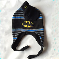 Minions Hats Glove Set Baby Boys Children Cartoon Winter Knitted Anime Batman Caps For Children Gorros