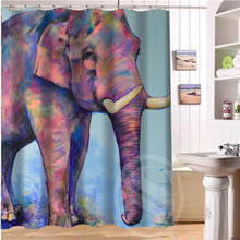 Elegant and cute elephant Personalized Custom Shower Curtain Bath Curtain Waterproof  MORE SIZE  SQ0515-06
