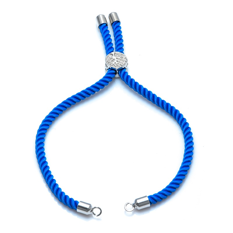 12 цветов Новые черные красные веревки плетеные веревки регулируемая цепь для шармы-соединители ювелирные изделия для создания браслетов ювелирных изделий - Цвет: light blue