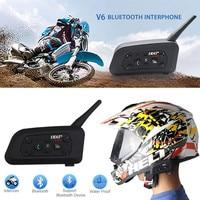Fodsports New 1 Pcs Wireless Motorcycle Helmet V6 Pro 1200M Multi BT Interphone Bluetooth Headset Intercom