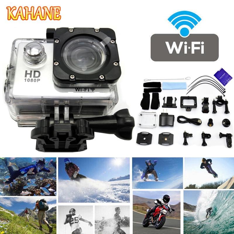 KAHANE SJ4000 Full HD 1080P Wifi Wireless 30m Waterproof Sport DV Video Action Camera FOR Honda Civic Accord Mazda CX-5 3 6 8 kahane sj4000 full hd 1080p wifi wireless 30m waterproof sport dv video action camera for audi bmw mercedes vw nissan hyundai