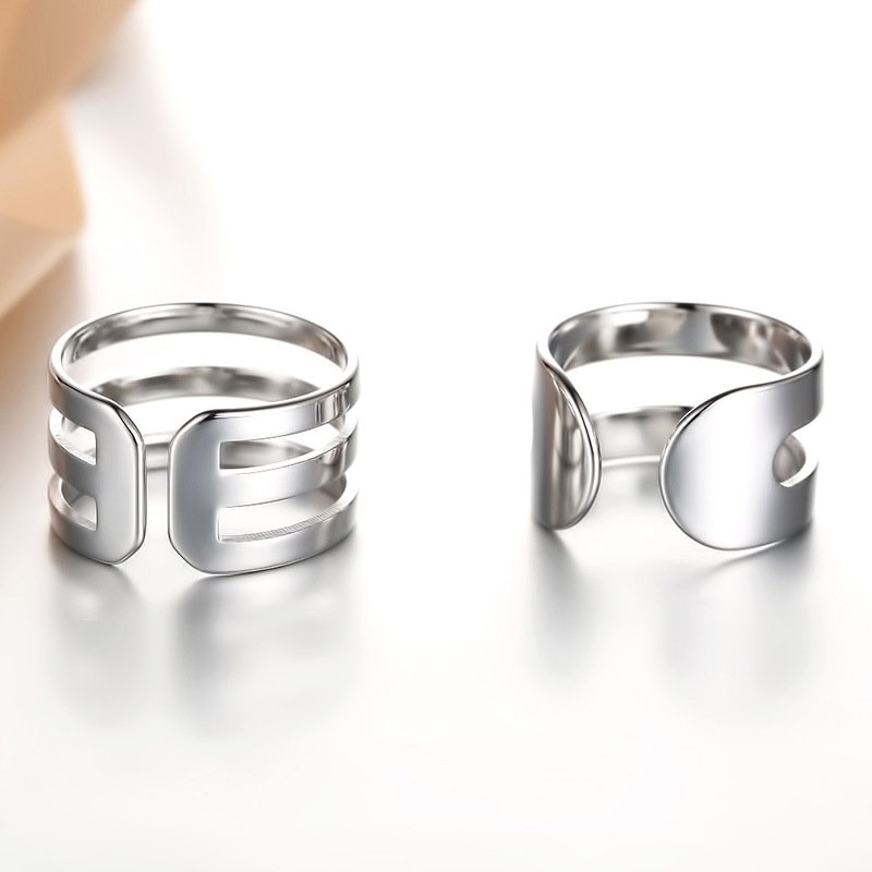 100 925 sterling silver fashion lovers couple rings jewelry wholesale women men finger ring no fade drop shipping in Rings from Jewelry Accessories