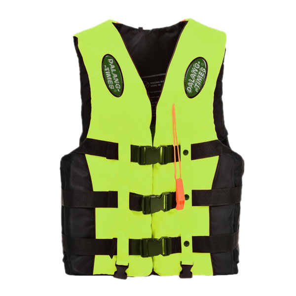 Dalang Times Boating Ski Vest Adult PFD Fully Enclosed Size Adult Life Jacket Green