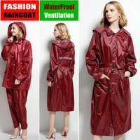 raincoat poncho women men waterproof Trench Coat Rain coat Pants Set outdoor Split Rain Suit chubasqueros mujer