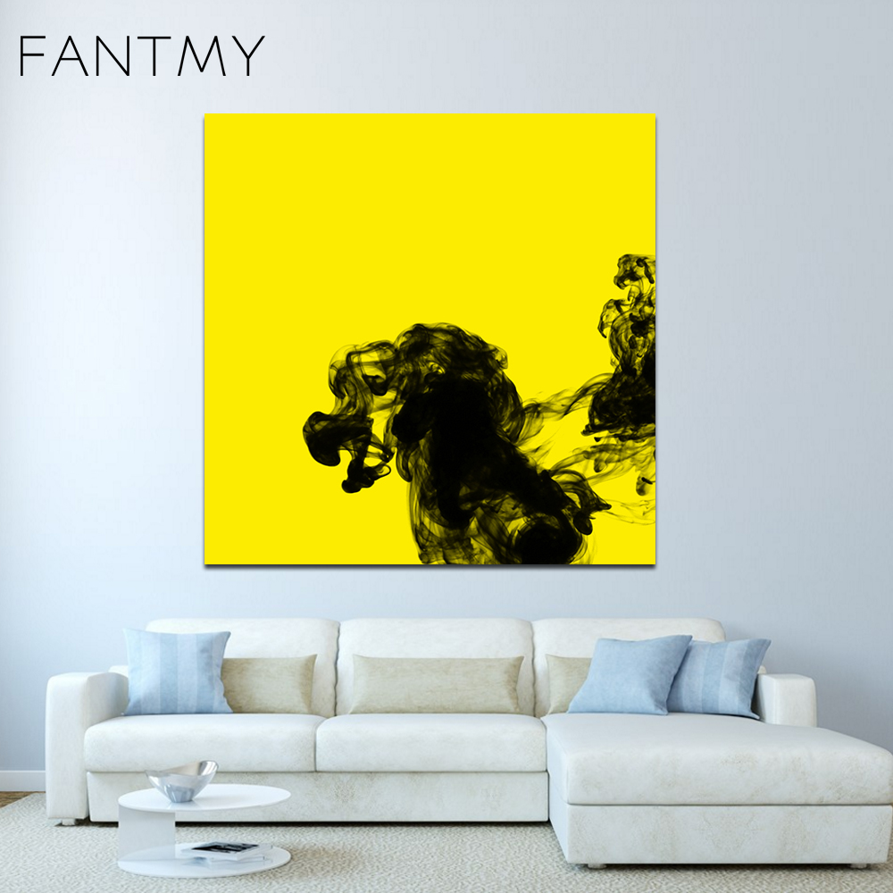 FANTMY Frameless Canvas Printings by numbers Modern Spray Painting ...