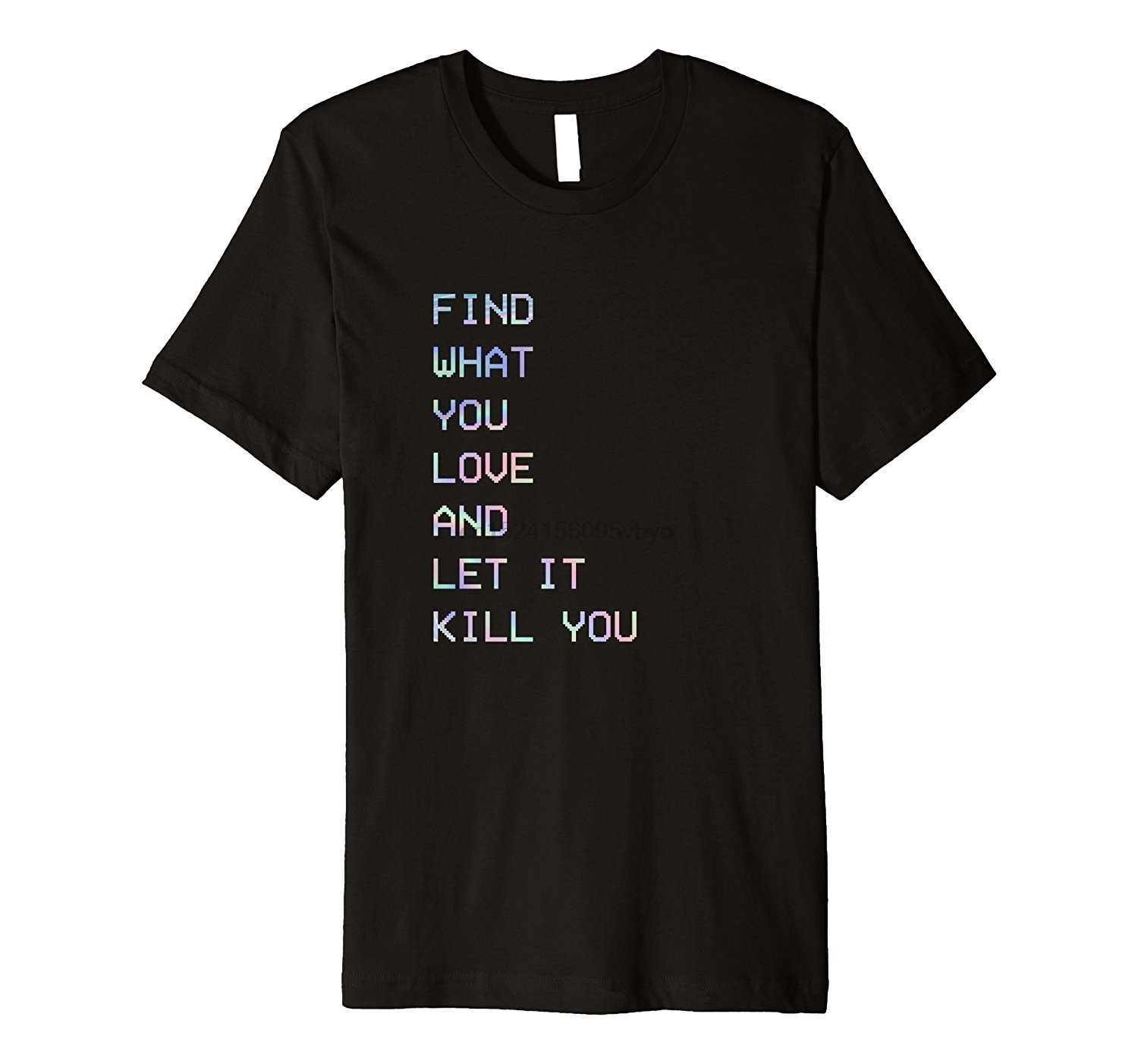 Men's Find What You Love Vaporwave Fashion T Shirt