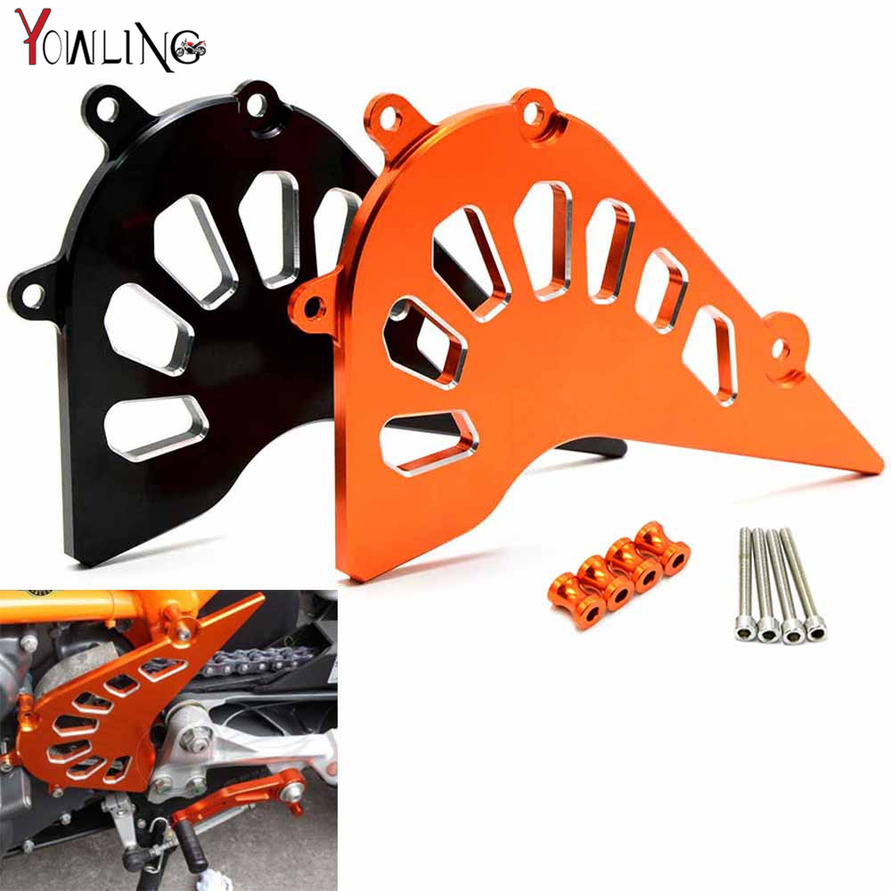 motorcycle CNC Aluminum Billet Front Sprocket Cover Engine Chain Guard Case Protection For KTM Duke 390 2013-2015 RC390 2014-15 cnc billet engine plug ignition cover plug for ktm 390 duke 2013 2014 2015 2016