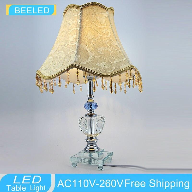 Современные украшения дома настольные лампы спальня ночники E27 стол настольные лампы кристалл K9 дома огни декор настольные лампы
