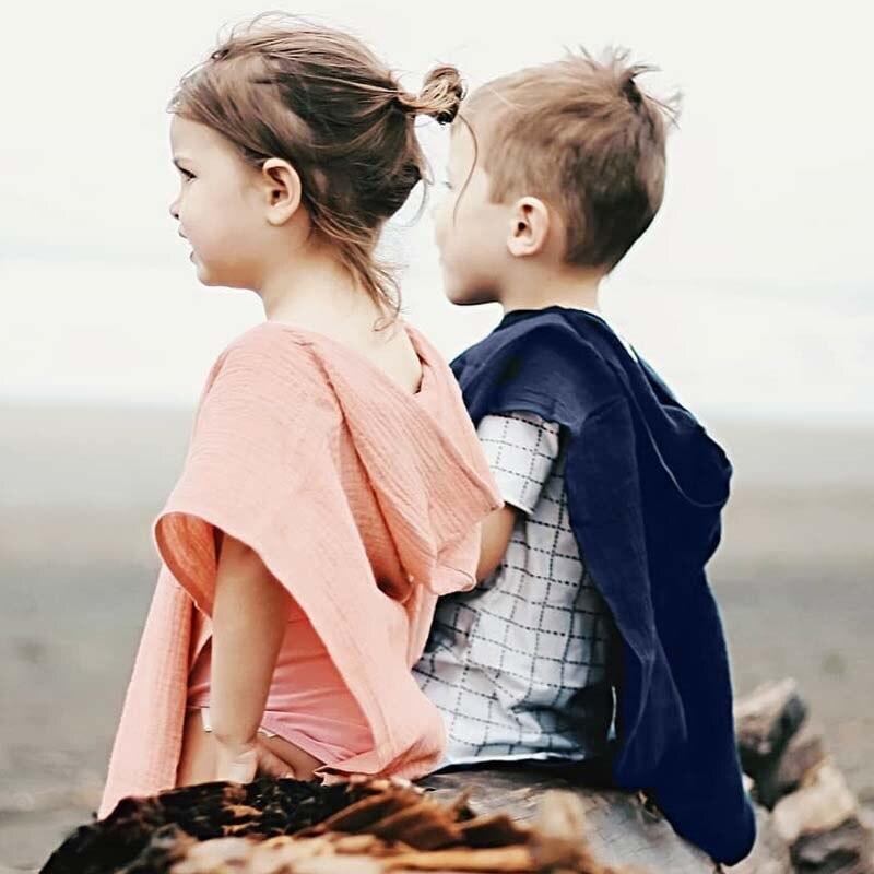 Outwear Cloak Baby-Boy-Girl Kids Jacket Hooded Two-Sided-Coat Children Princess Solid