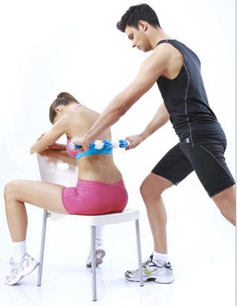 Portable massager muscles relax massage stick fascia rod roller gear slow deep muscle massage shaft
