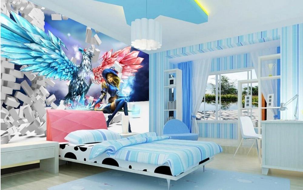 ФОТО Wallpaper 3d stereoscopic Children's cartoon eagle wings Living children's room TV background 3d mural wallpaper